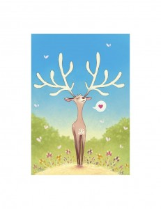 carte-postale-le-cerf-amoureux