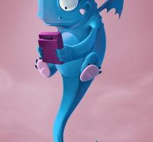 Léon, petit dragon Geek